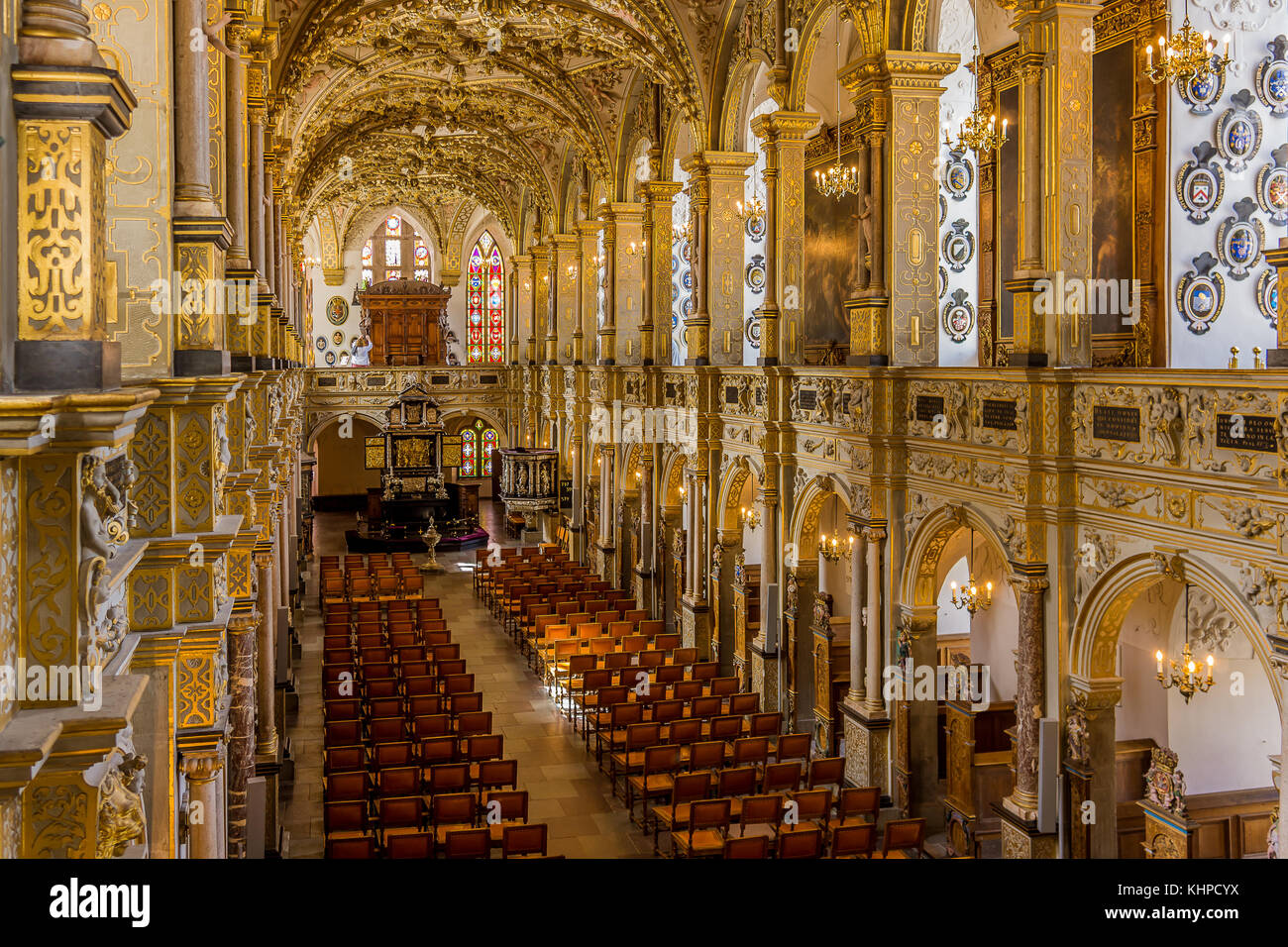 Interior of the church at Rosenborg castle, Hillerod, Denmark, August 6, 2017 - Stock Image