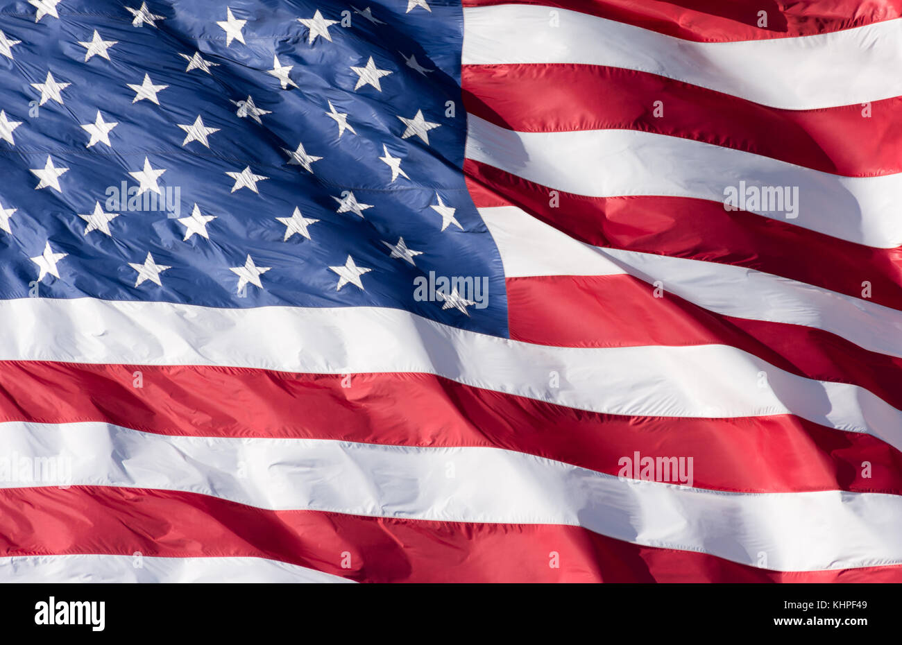 Close Up Of A Red White And Blue American Flag With Stars And Stock Photo Alamy