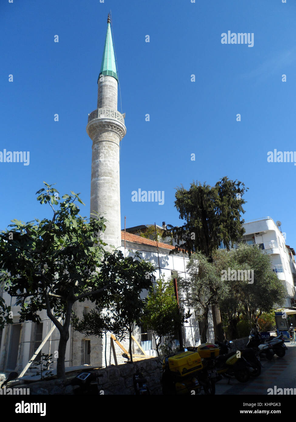 Ottoman Style Miranet Of A Mosque In Marmaris Old Town Mugla Province Turkey