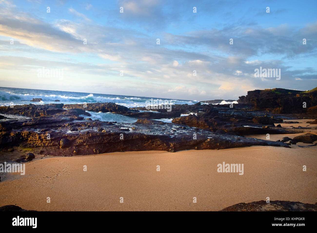 Sunrise over Sandy Beach - Oahu, HawaiiStock Photo
