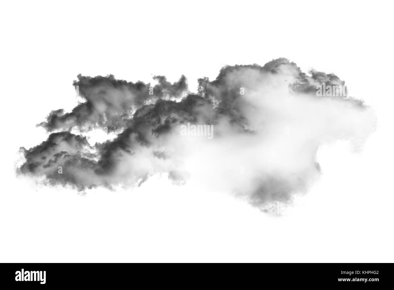 cloud and smoke isolated on white, background and texture - Stock Image