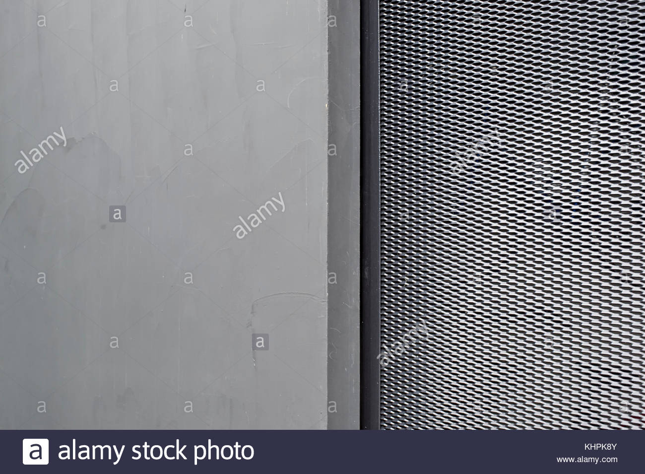 Grey silver textured concrete background with metal pattern Stock Photo
