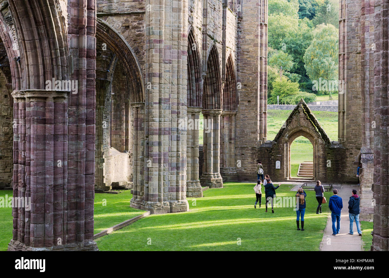 Tintern Abbey, Monmouthshire, Wales, United Kingdom.  The abbey was founded in 1131. - Stock Image