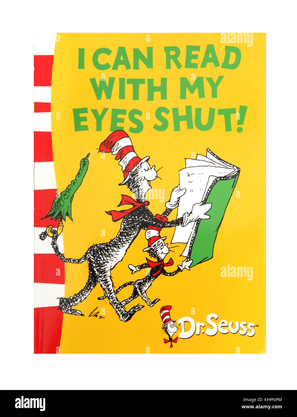 The book, I can read with my eyes shut,  by Dr Seuss - Stock Image