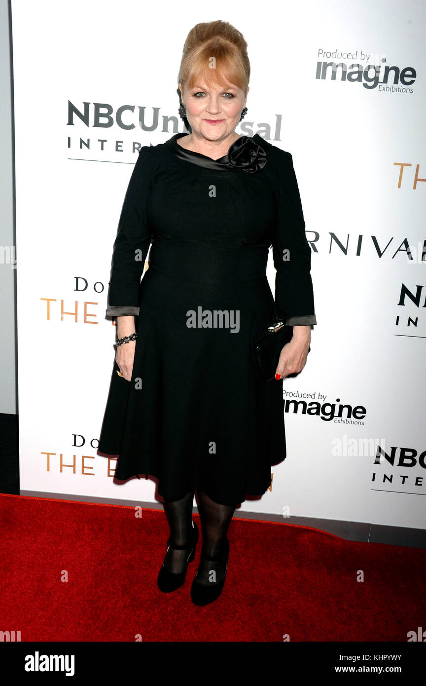 Lesley Nicol attends the 'Donwton Abbey: The Exhibition' opening at 218 West 57th Street on November 17, - Stock Image