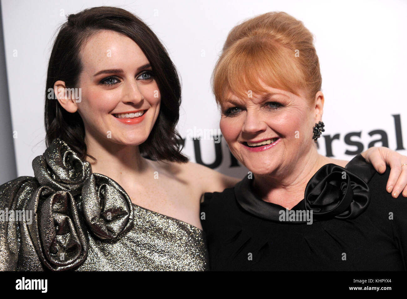 Sophie McShera and Lesley Nicol attend the 'Donwton Abbey: The Exhibition' opening at 218 West 57th Street - Stock Image