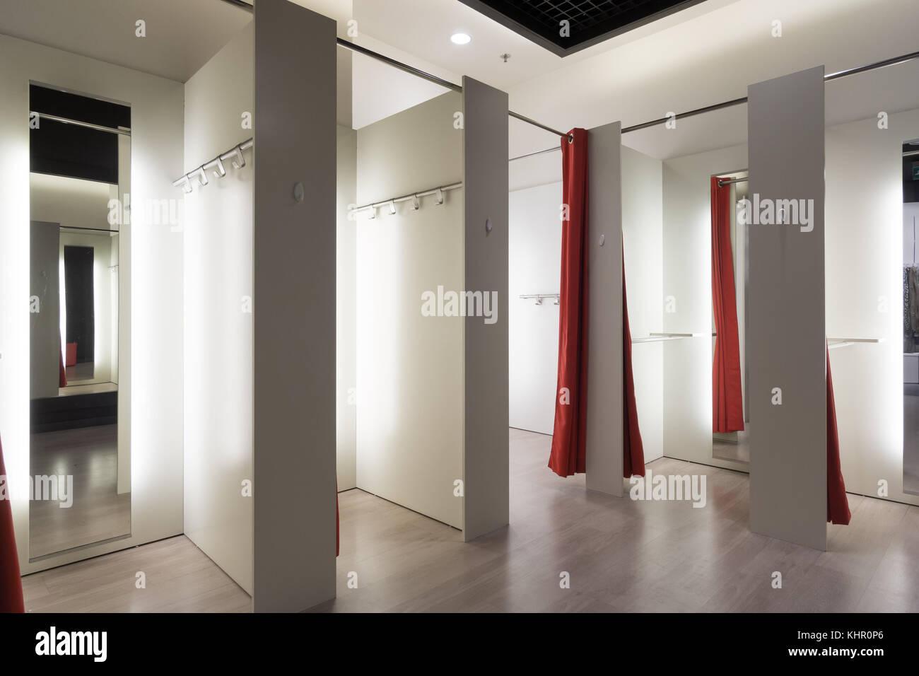 Fitting room interior - Stock Image