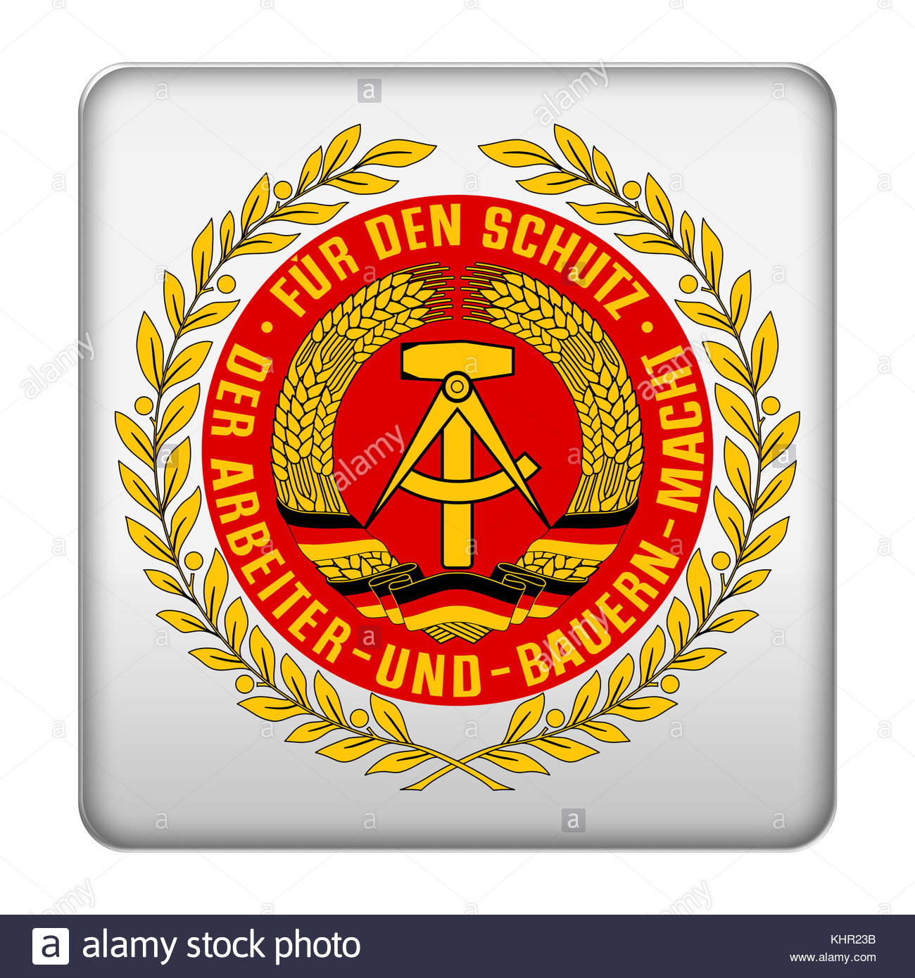 National People's Army icon logo - Stock Image