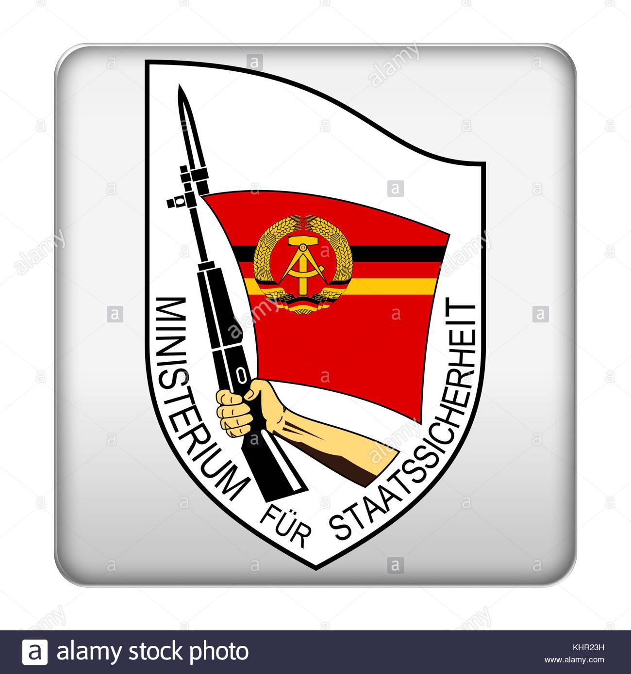 Stasi icon logo - Stock Image