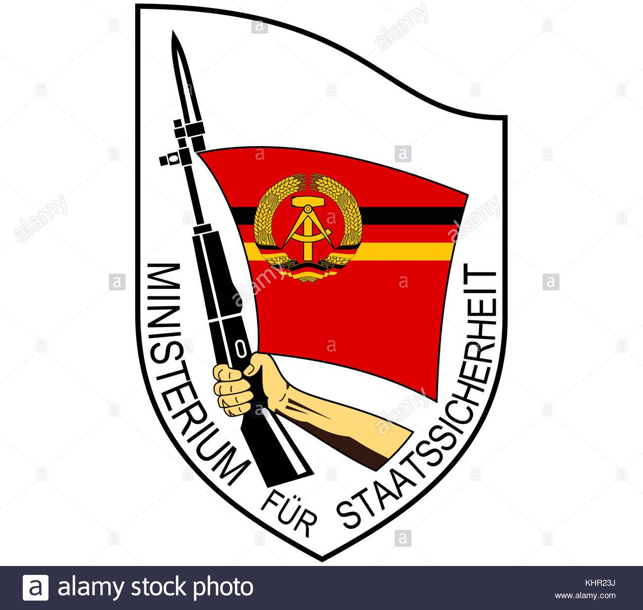 Stasi logo icon - Stock Image