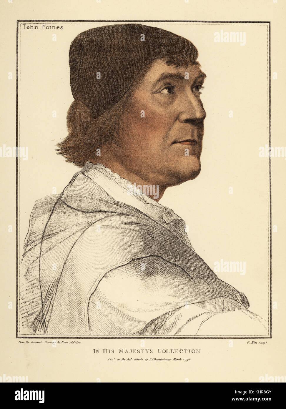 John Poines or John Poyntz (ca. 1485 – 1544). English courtier and politician, Member of Parliament for Devizes. - Stock Image
