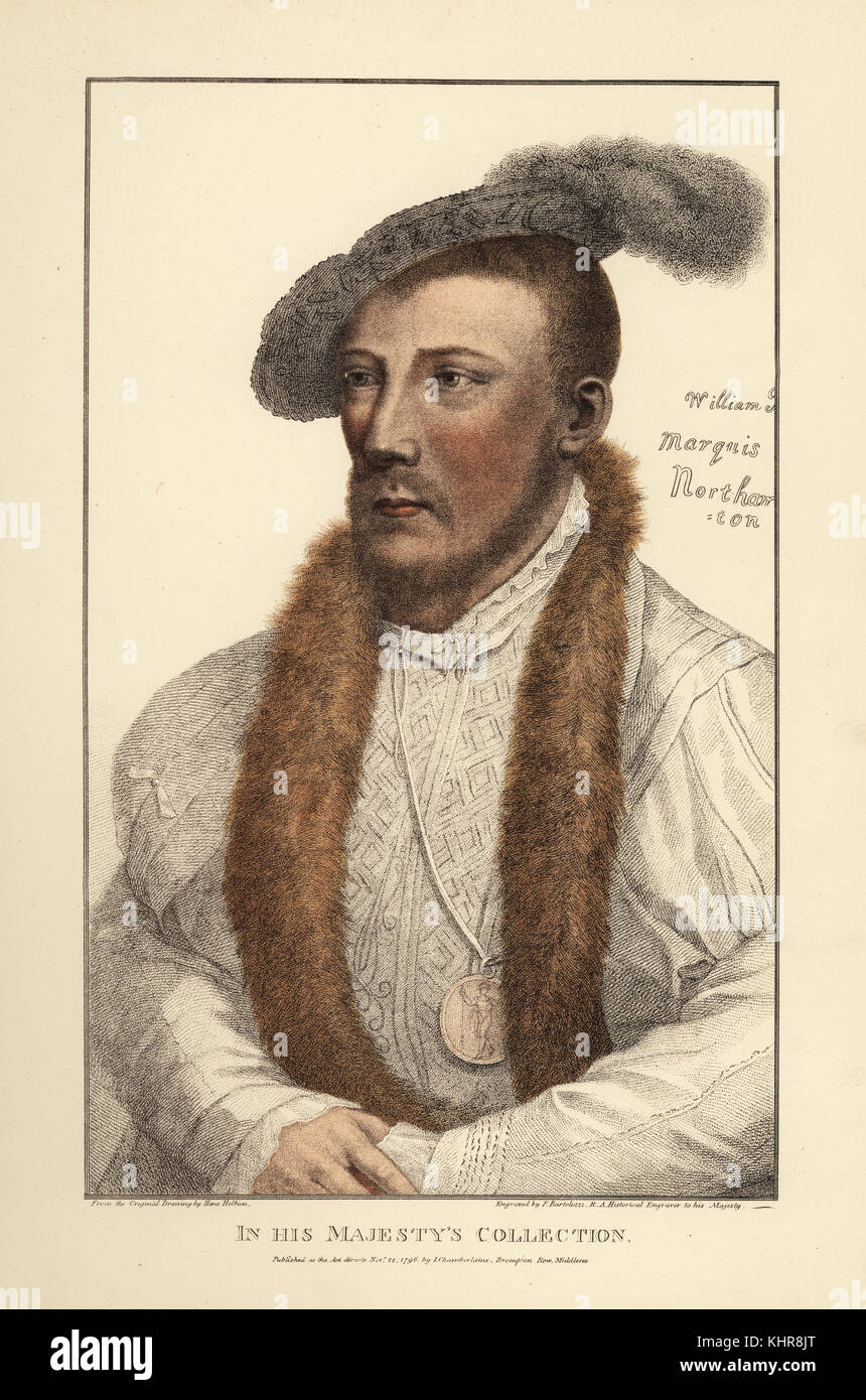 William Parr, 1st Marquess of Northampton, 1st Earl of Essex and 1st Baron Parr (1513-1571), English courtier. Brother - Stock Image