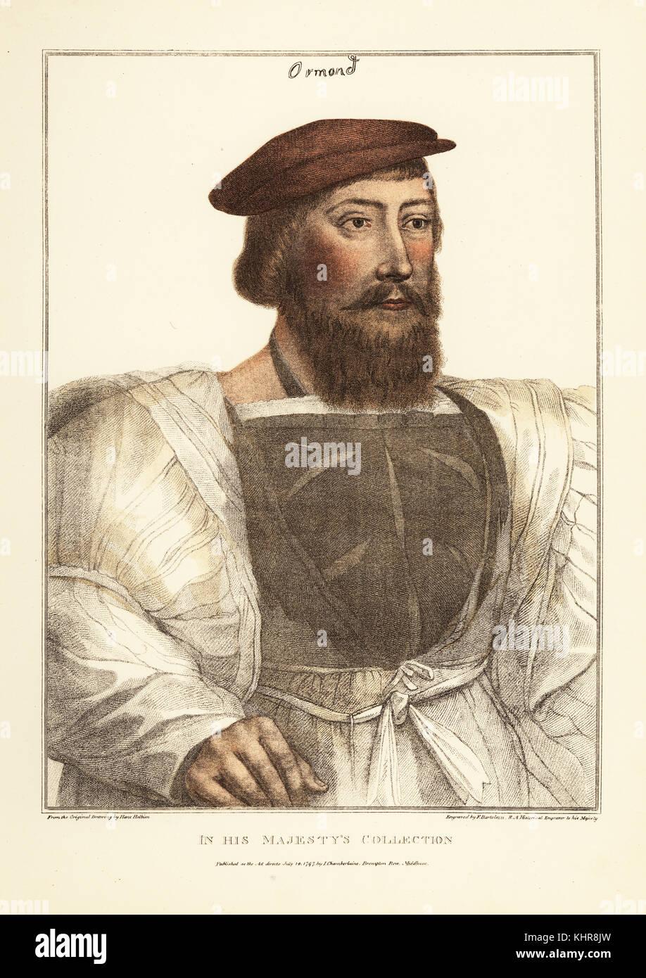 Thomas Boleyn, father of Anne Boleyn, 1st Earl of Wiltshire, 1st Earl of Ormond, 1st Viscount Rochford (c. 1477–1539), - Stock Image
