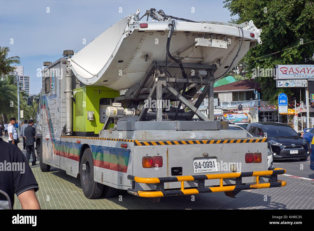 Satellite television news truck  Thailand, Southeast Asia
