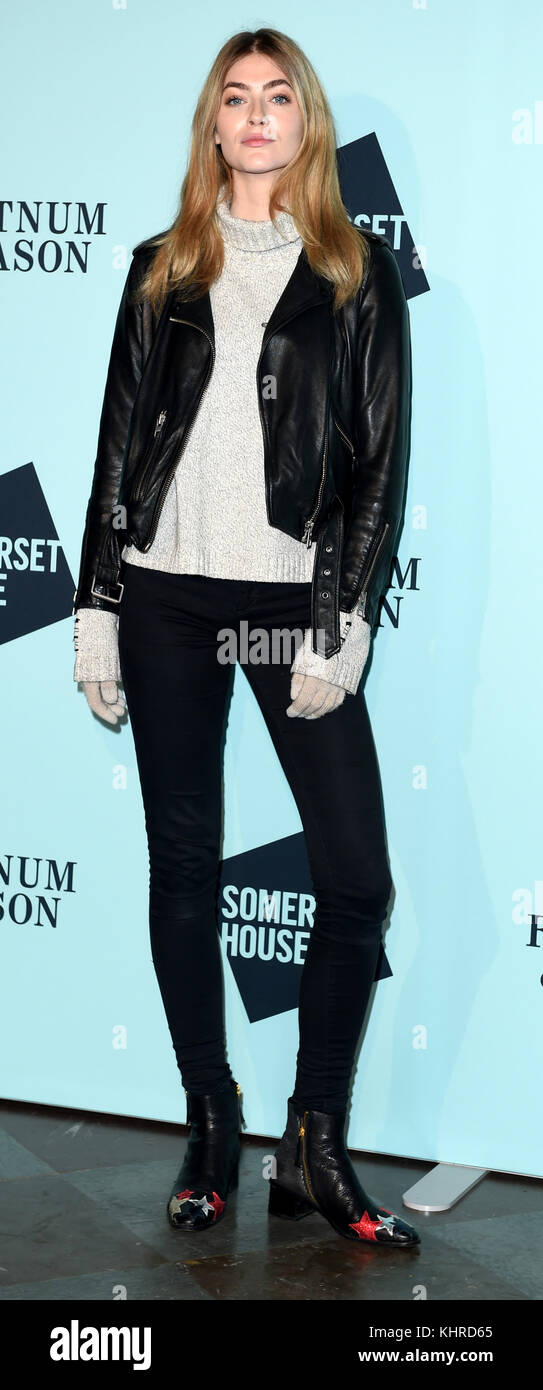 Photo Must Be Credited ©Kate Green/Alpha Press 079965 14/11/2017 Eve Delf Skate At Somerset House Launch Party - Stock Image