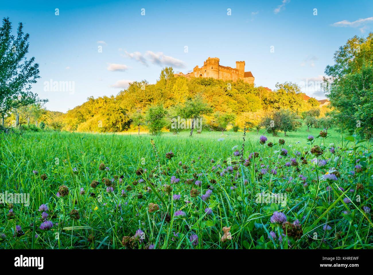 Castelnau castle in Prudhomat Bretenoux France Stock Photo
