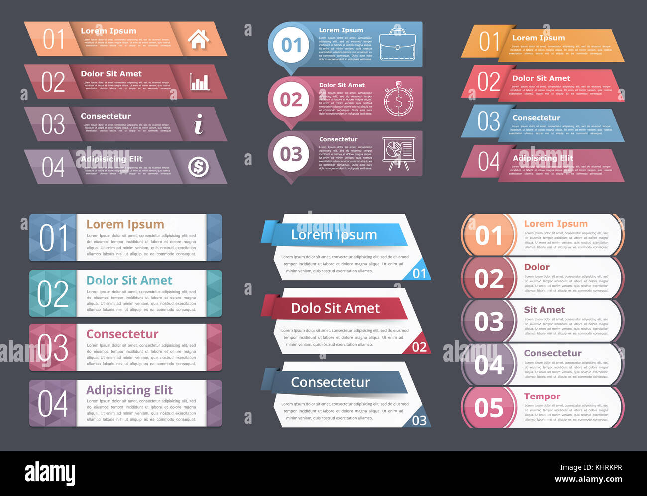 Set of infographic templates with numbers and text process flow set of infographic templates with numbers and text process flow chart design elements business infographics vector eps10 illustration wajeb Image collections