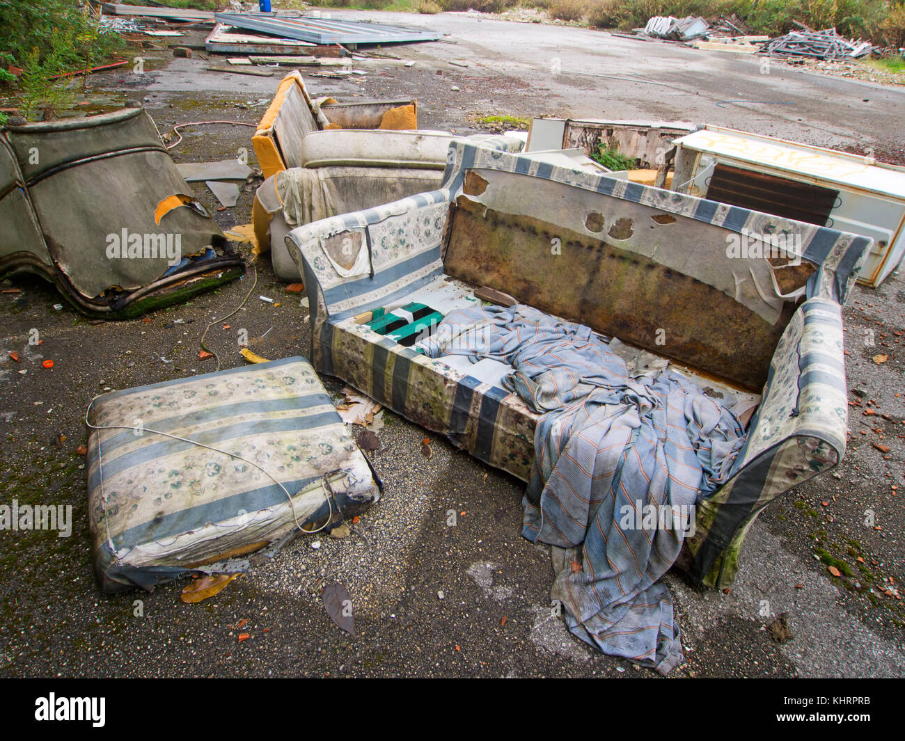 Environmental pollution. Fly tipping. - Stock Image