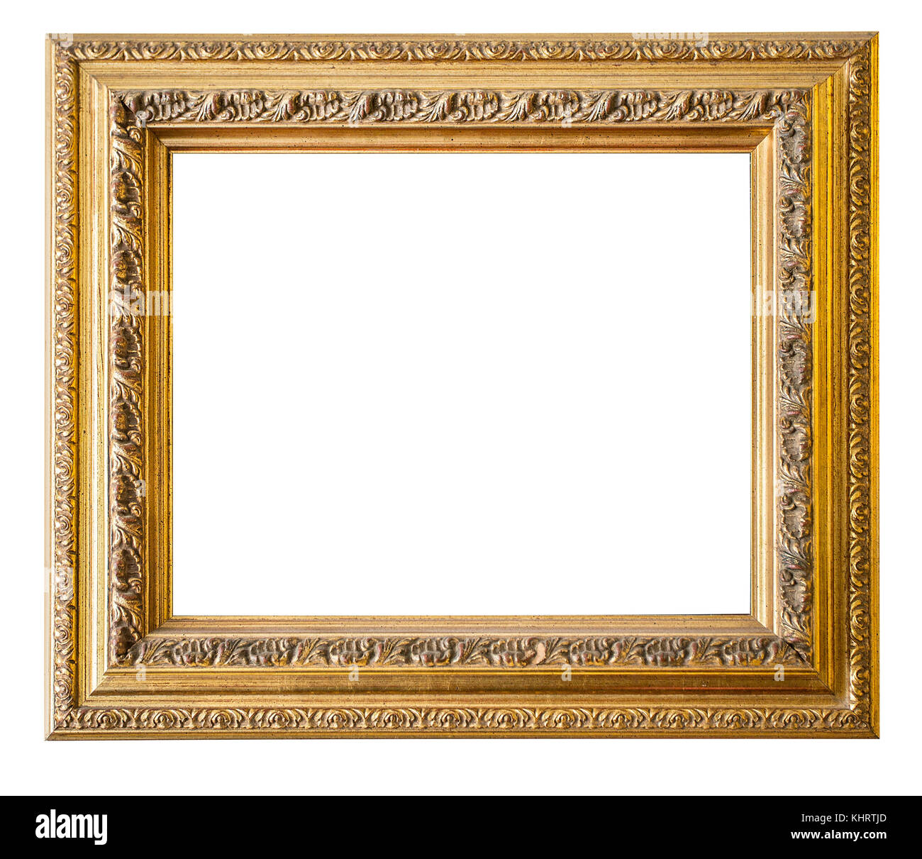 Gold Frame Goldgilded Arts And Crafts Pattern Picture Frame Stock