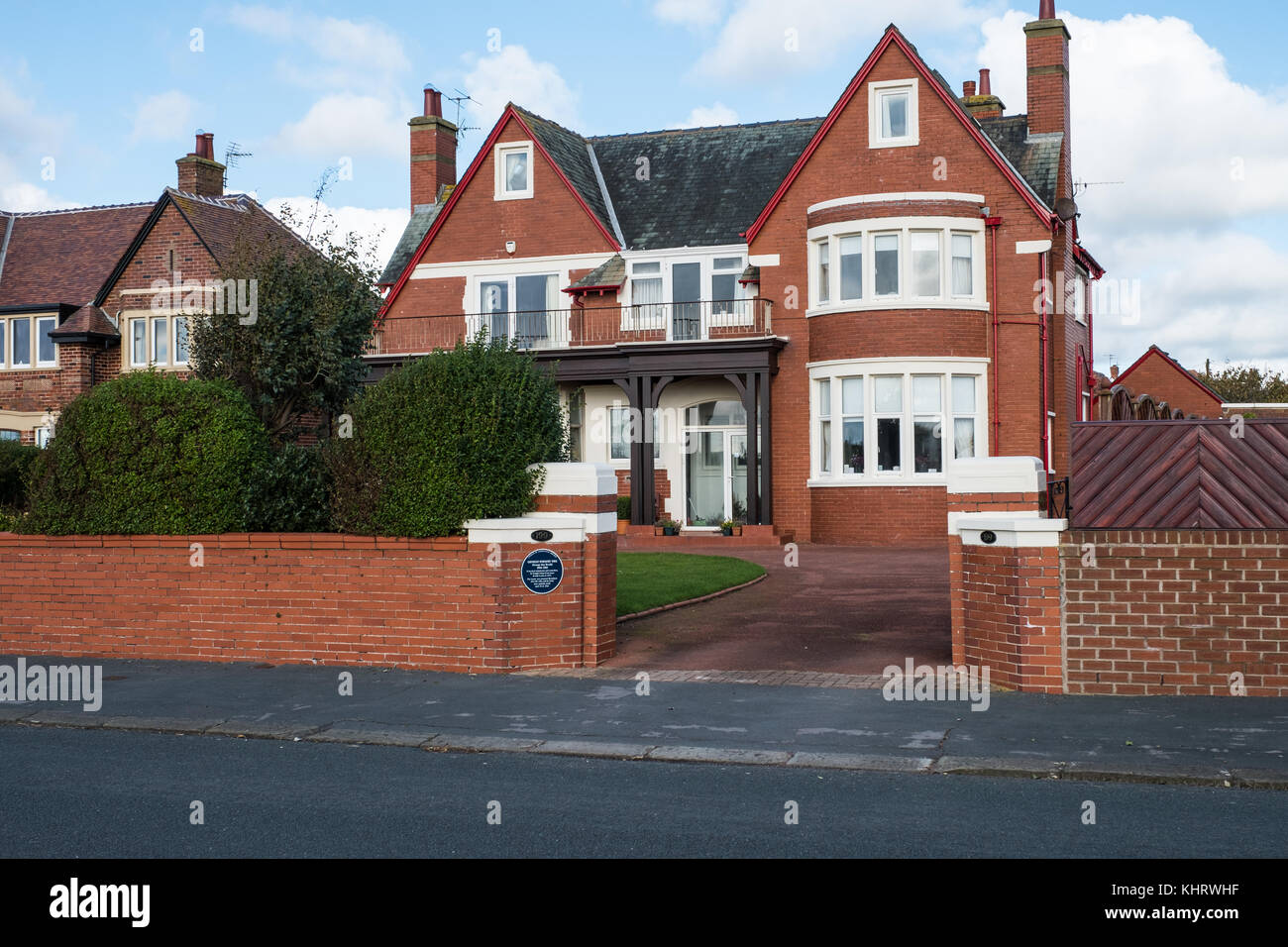 The house at Lytham St Annes previously owned by the famous George Formby OBE. - Stock Image