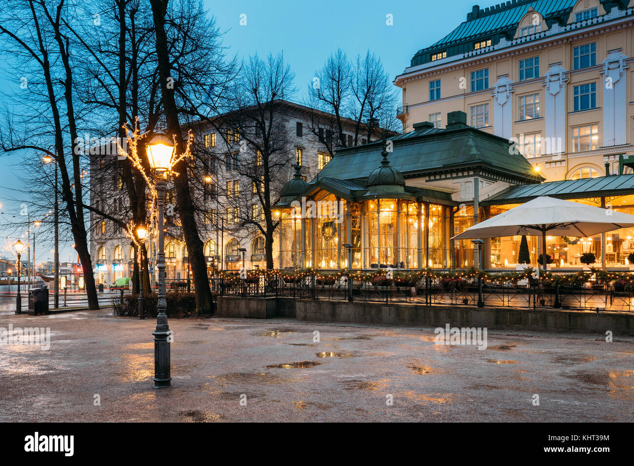 Helsinki Finland Famous And Popular Place Is Cafe Bar Restaurant Stock Photo Alamy