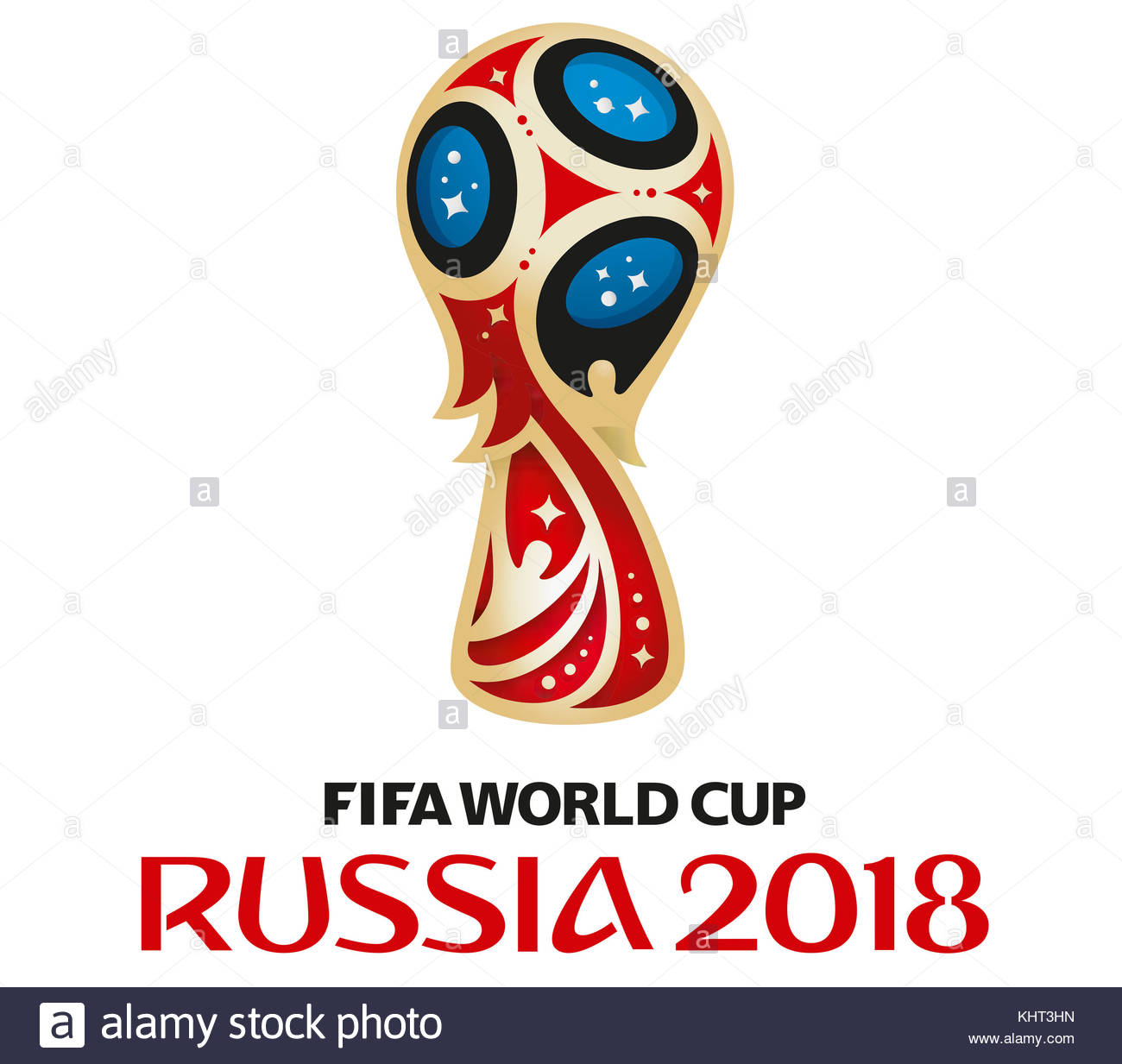 FIFA World Cup 2018 Russia icon logo - Stock Image