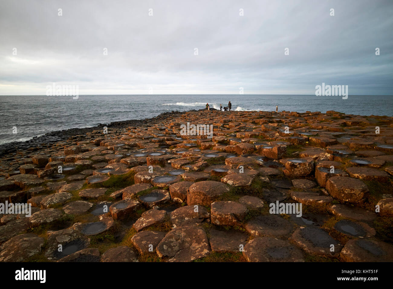evening at the Giants Causeway county antrim northern ireland uk Stock Photo