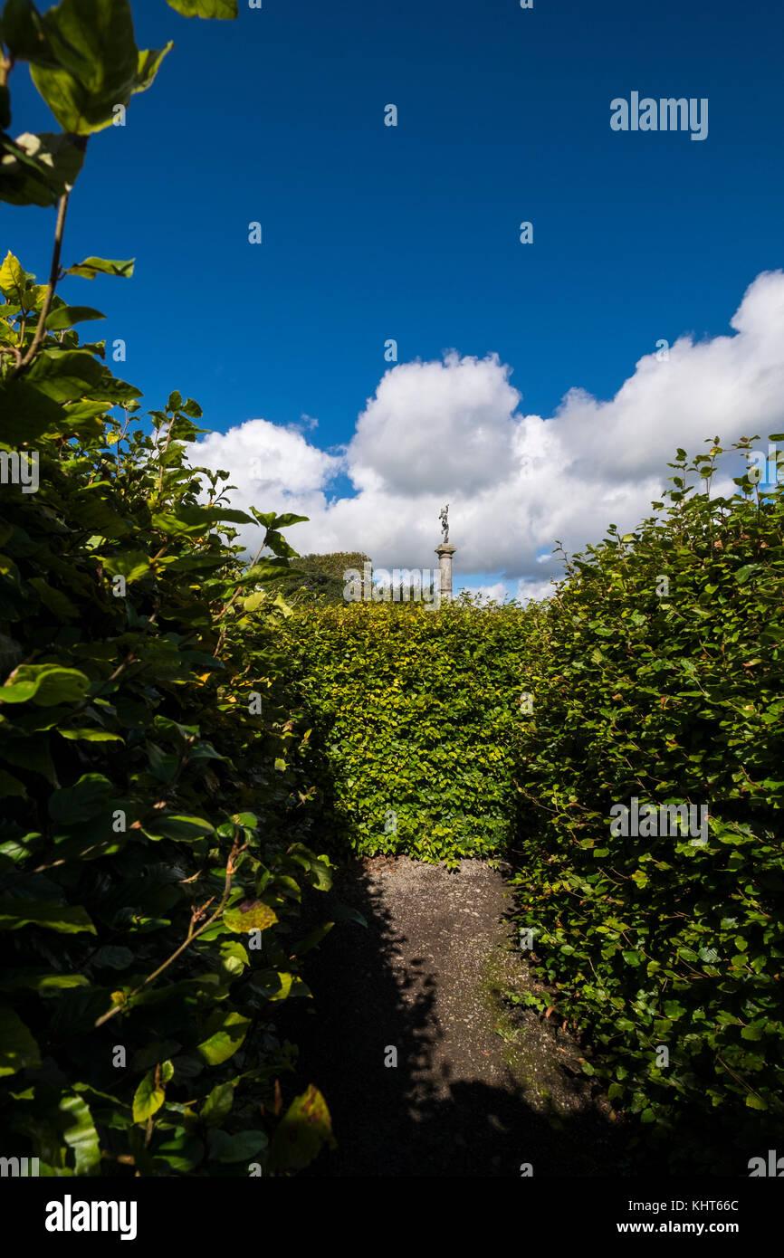 Maze at Russborough House, Blessington, County Wicklow, Ireland - Stock Image