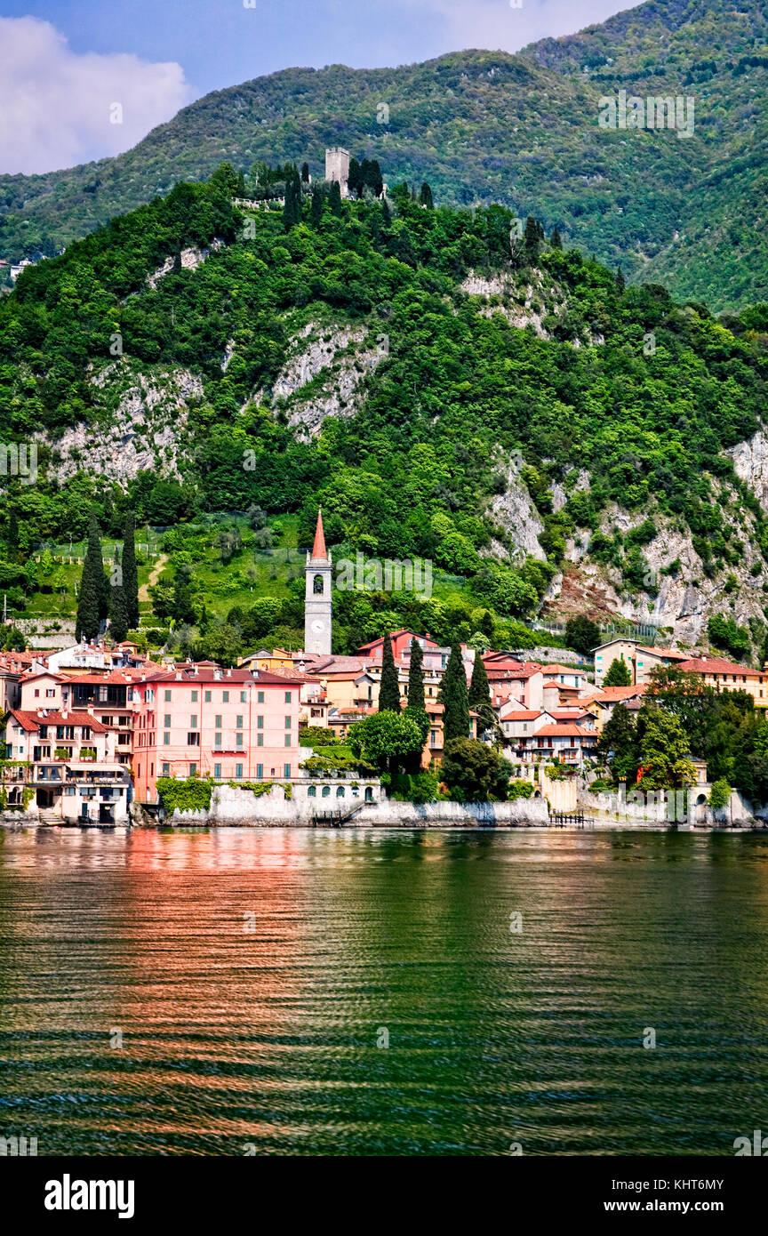 Varenna on the shores of Lago di Lecco, Italy - Stock Image