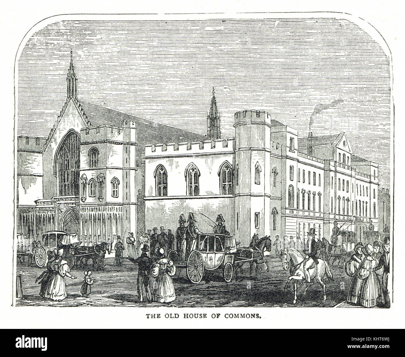 The Old House of Commons, Pre fire of 1834 Stock Photo