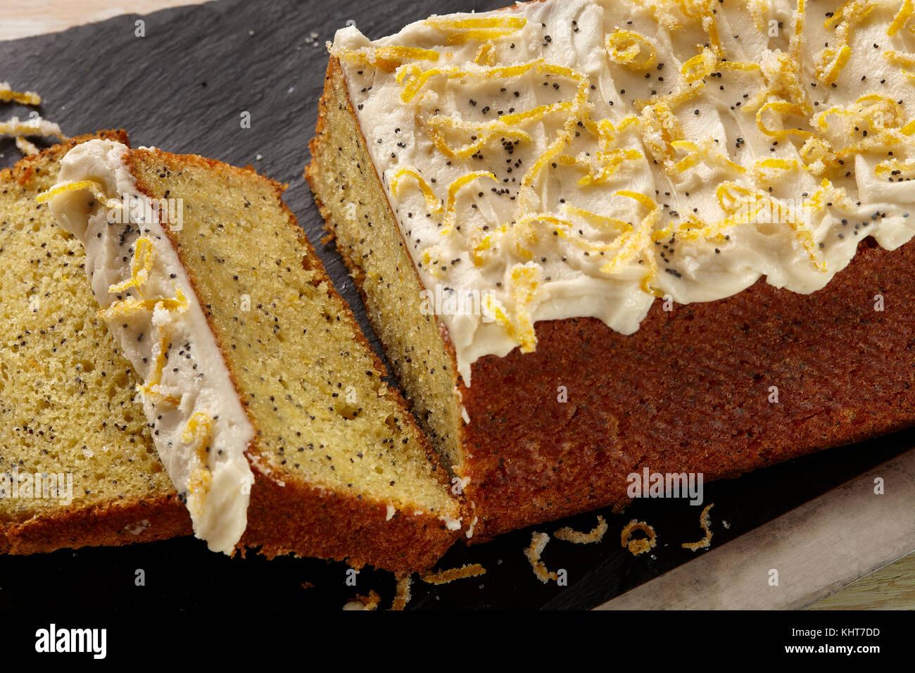 Orange poppy seed loaf - Stock Image