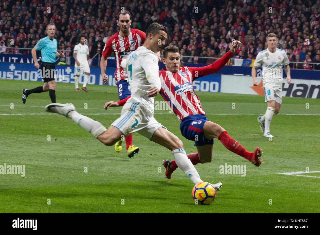 Cristiano Ronaldo L Shoot To Goal Photo By Jorge Gonzalez Pacific Stock Photo Alamy
