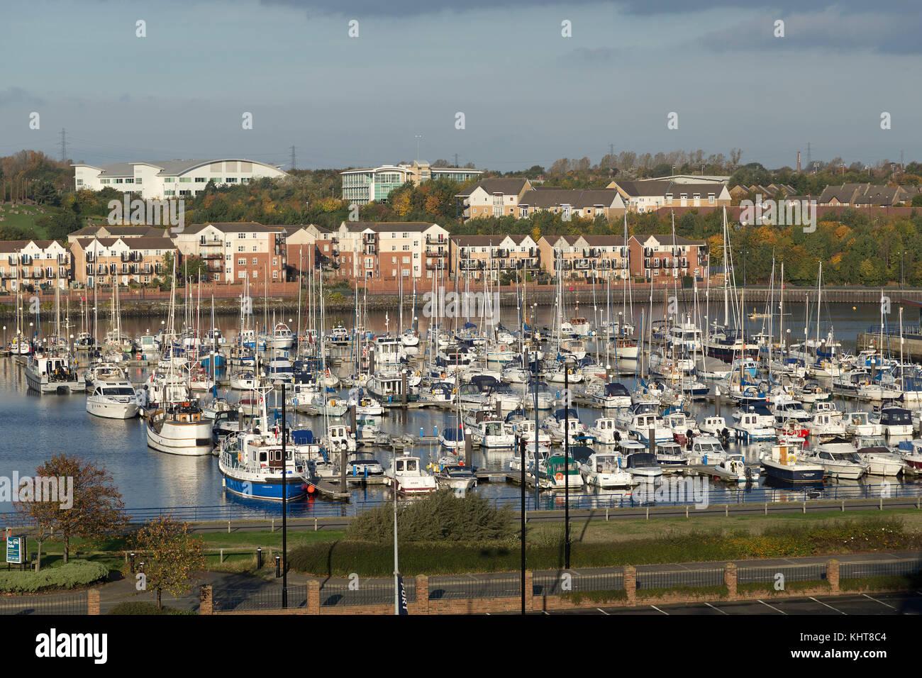 marina, North Shields, Northumberland, Great Britain Stock Photo