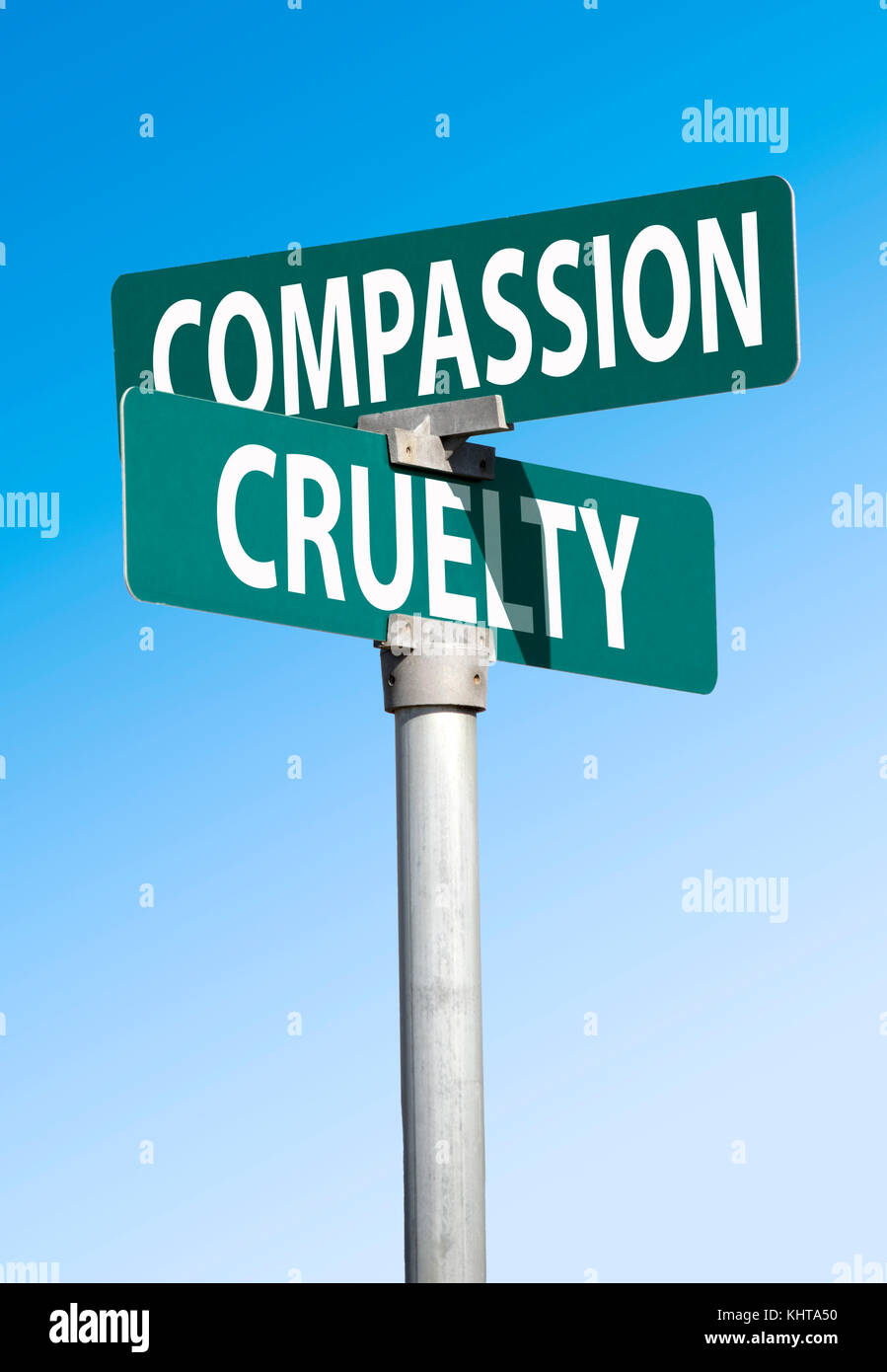 compassion and cruelty - Stock Image