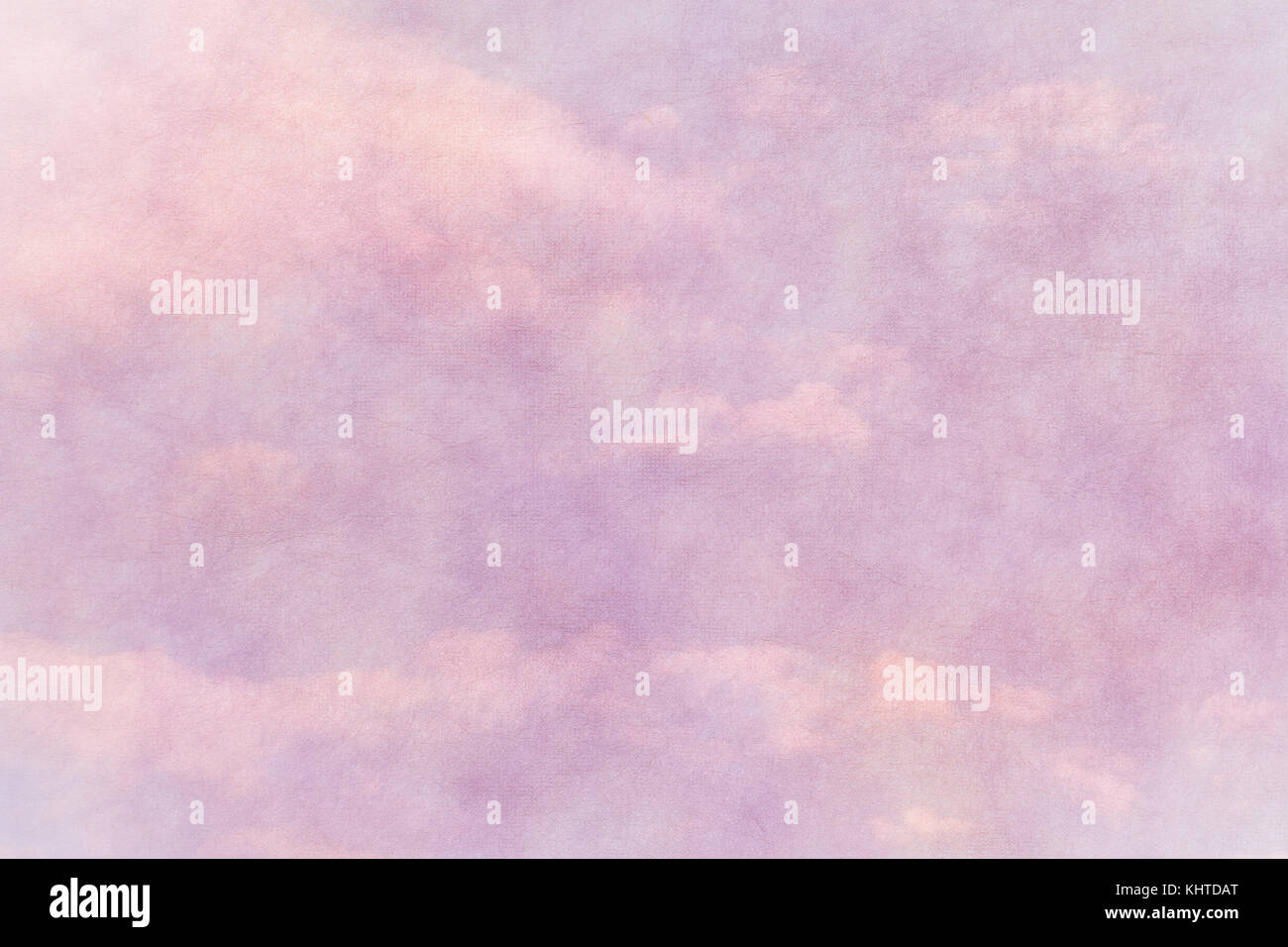 spring pink paper texture with cloudy blue sky Stock Photo