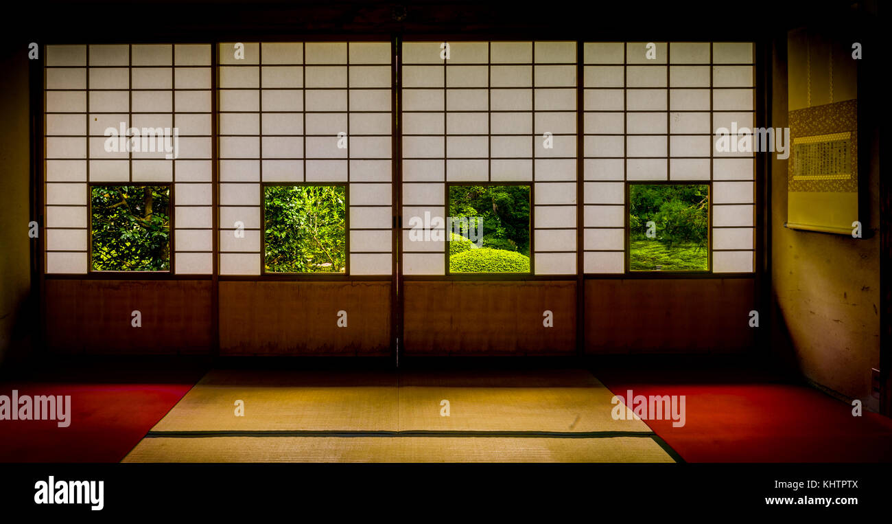 Japanese Temple Unryu in kyoto  Stock Photo