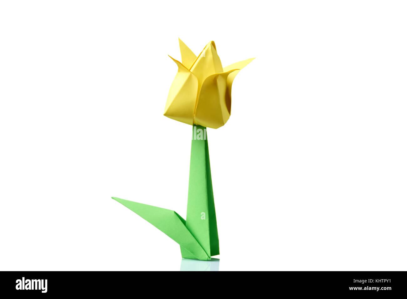 Origami flower tulip stock photos origami flower tulip stock yellow tulip origami flower stock image mightylinksfo