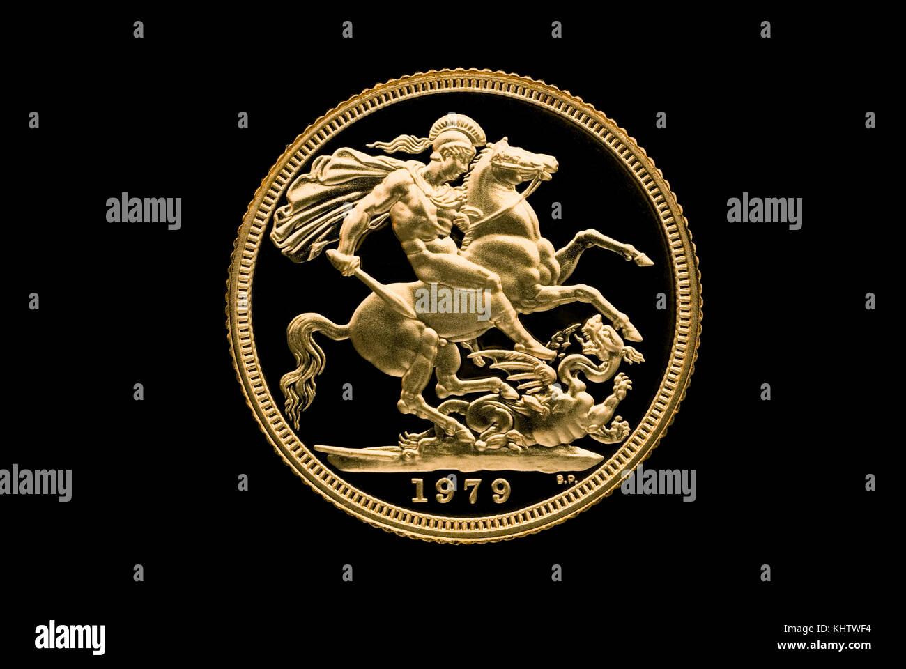 Gold Sovereign - Stock Image