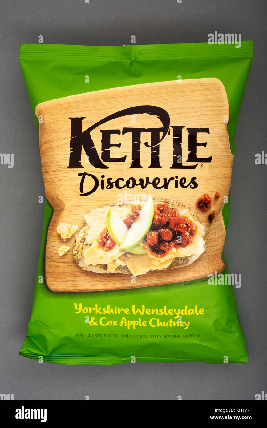 Kettle Discoveries crisps - Stock Image
