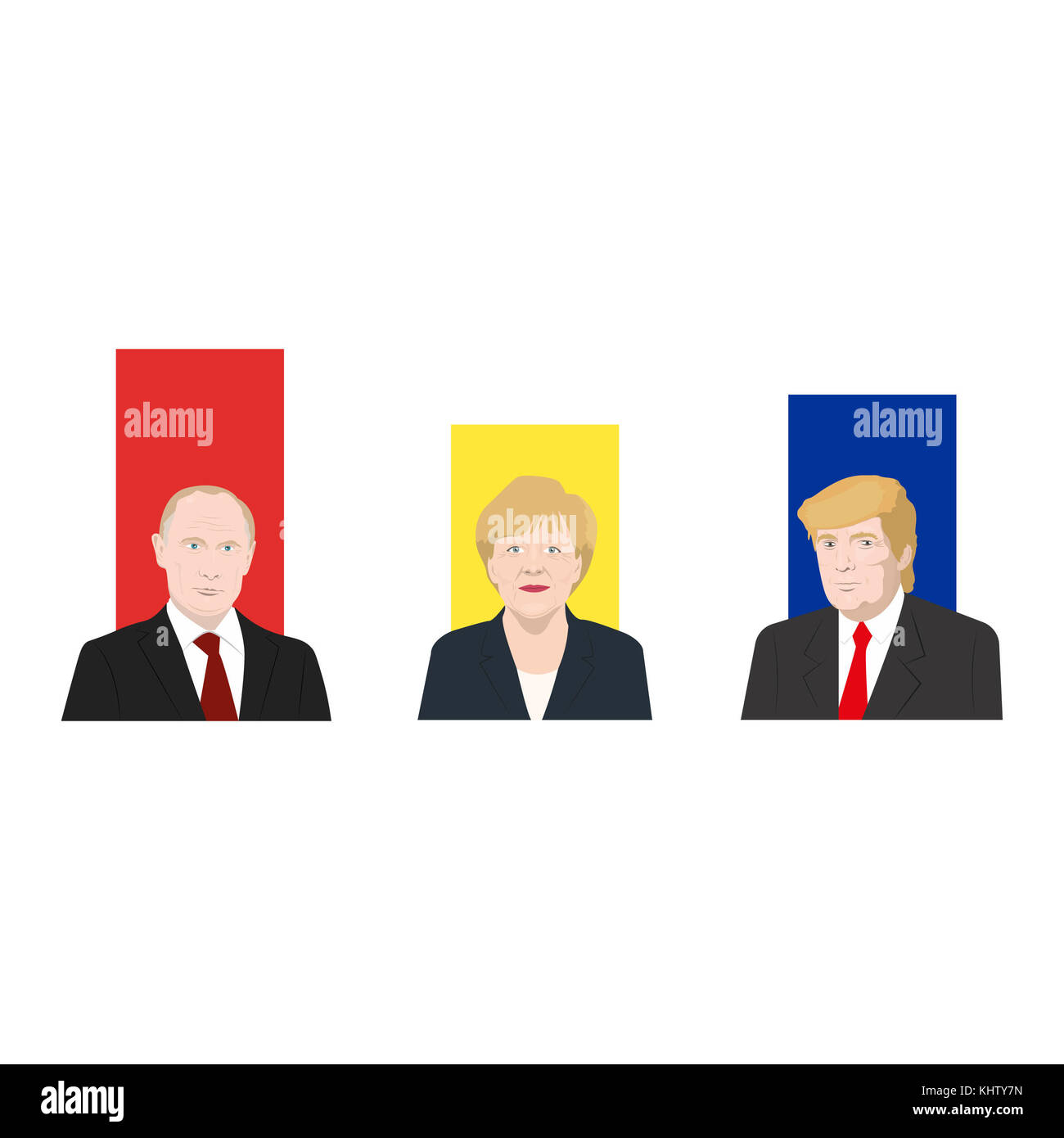 November 19.11.2017. Editorial illustration is showing a rating of popularity of well-known politicians: the Vladimir - Stock Image