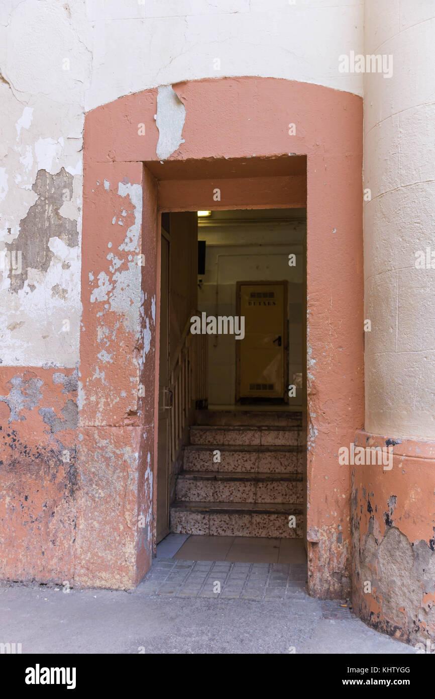 View of the empty prison of La Modelo in Barcelona, Catalonia, Spain - Stock Image