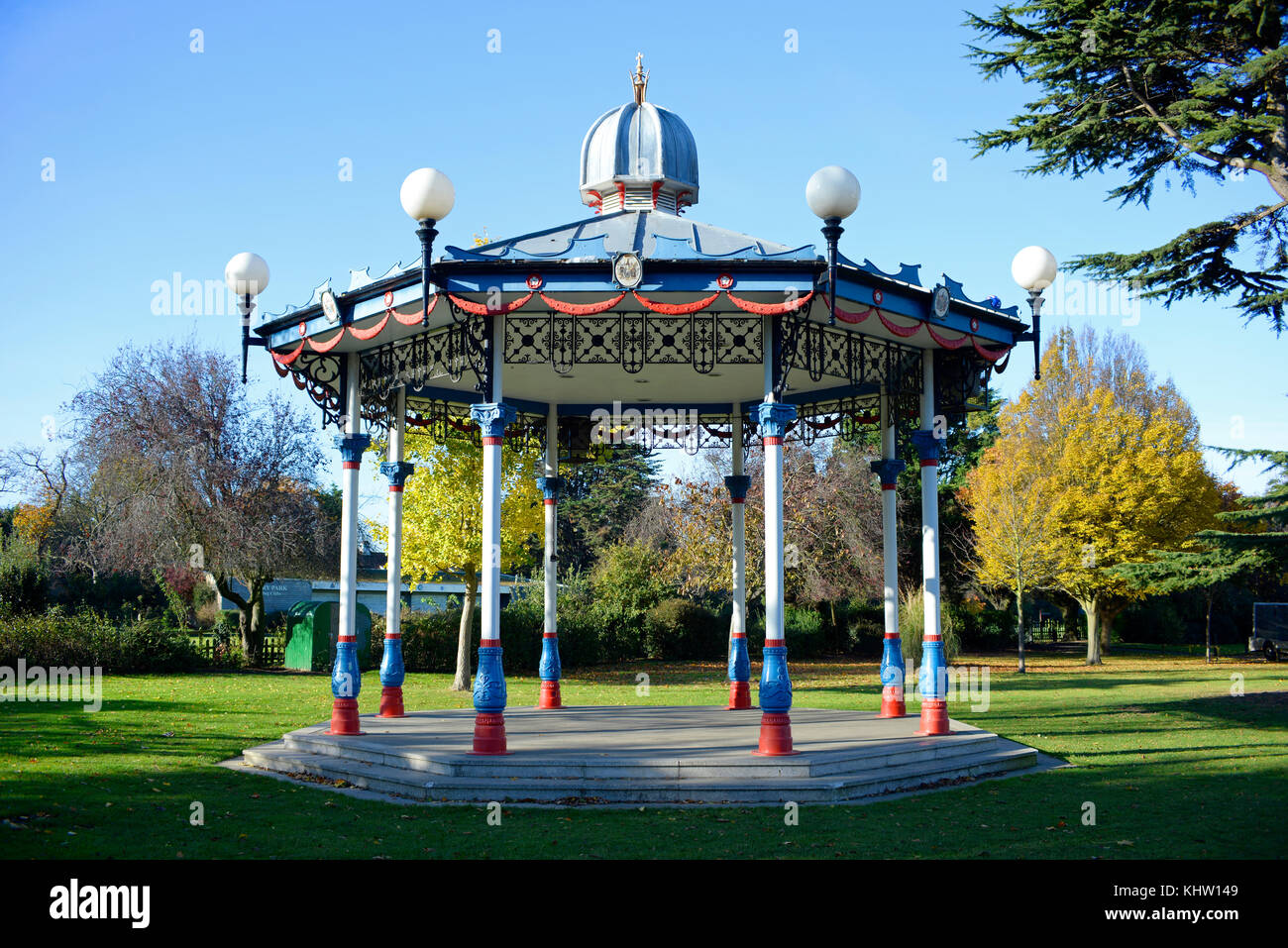Bandstand in Priory Park Prittlewell Southend on Sea, Essex. Space for copy Stock Photo