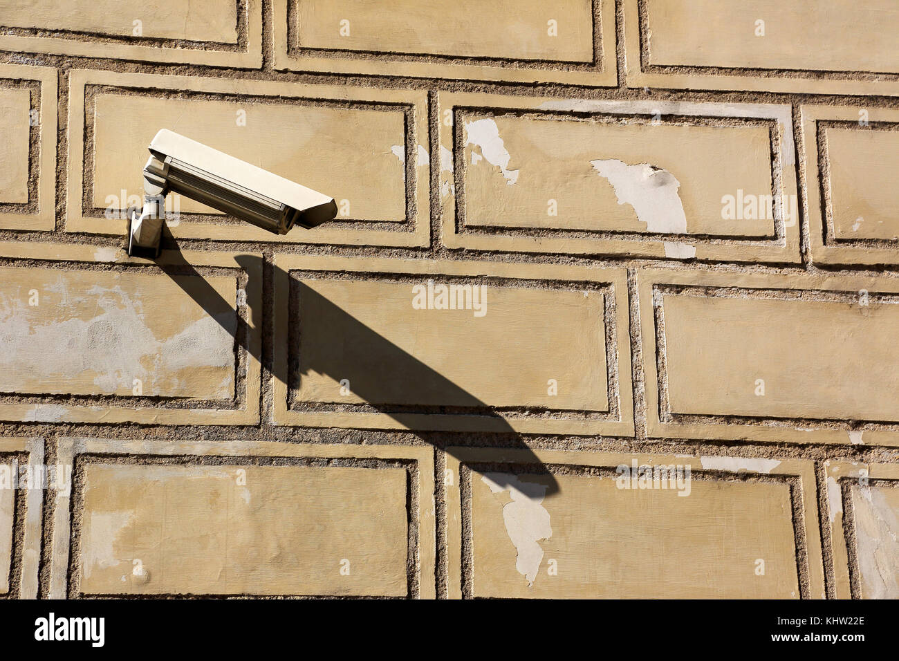video surveillance camera for building security - Stock Image