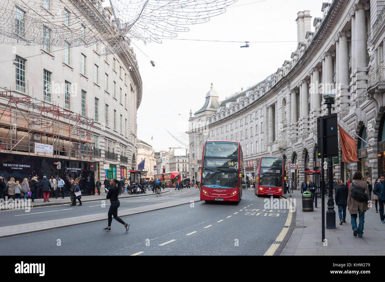 Regent Street, Soho, City of Westminster, Greater London, England, United Kingdom - Stock Image