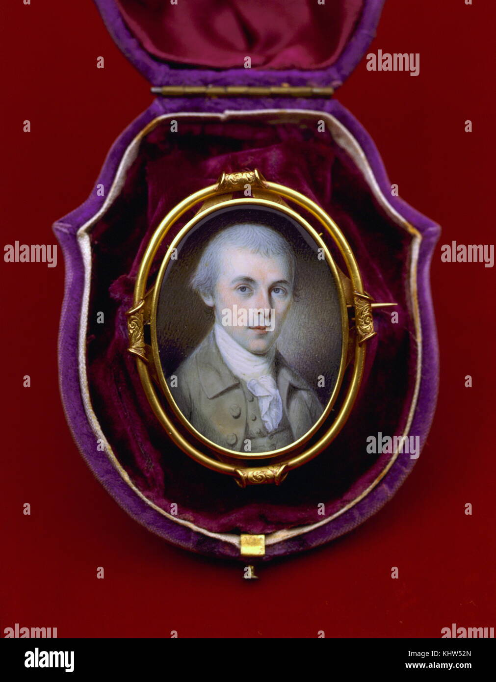 Miniature portrait of James Madison (1751-1836) an American statesman, Founding Father and 4th President of the - Stock Image