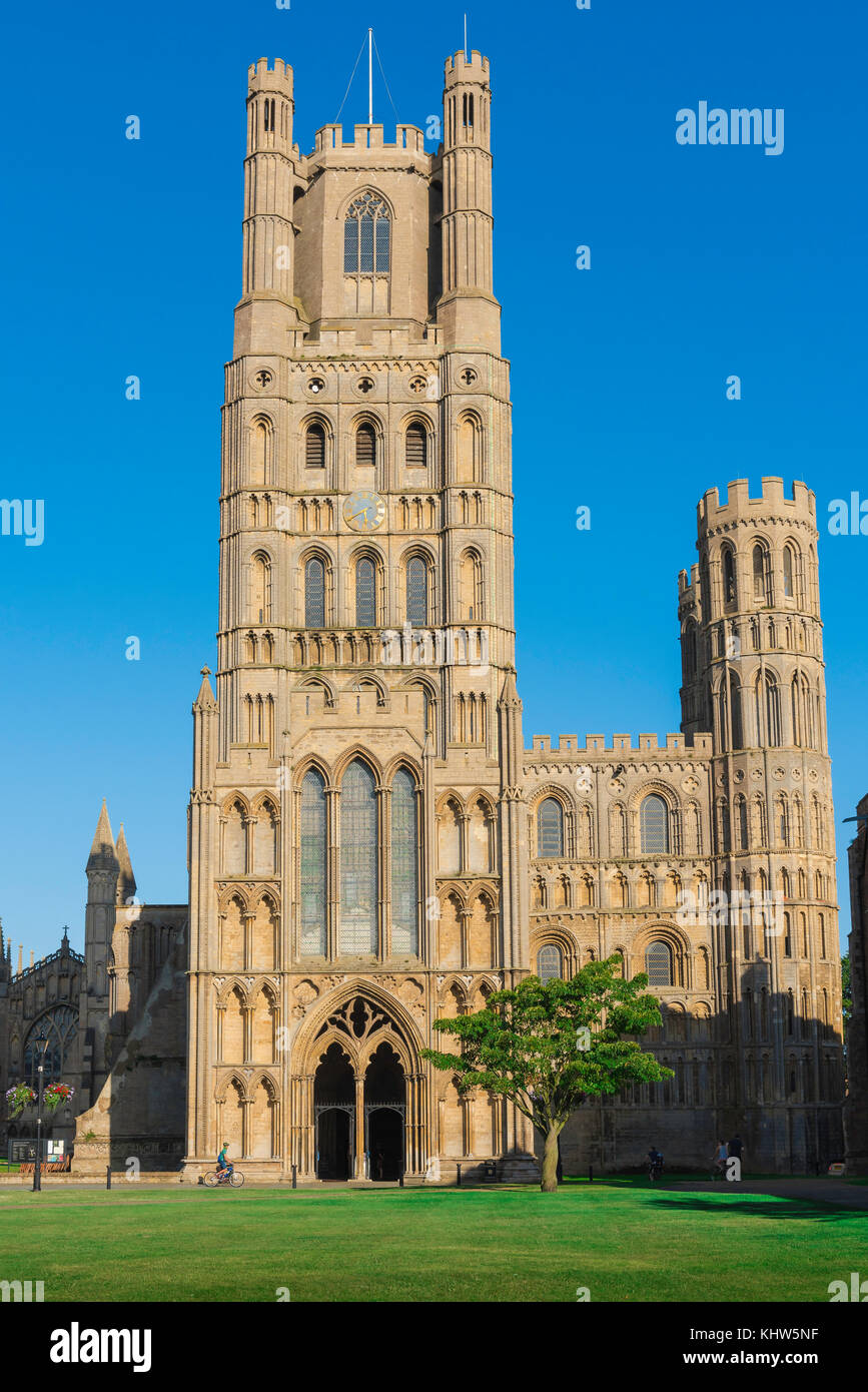 Ely cathedral UK, the west tower of Ely Cathedral, Cambridgeshire, UK. - Stock Image