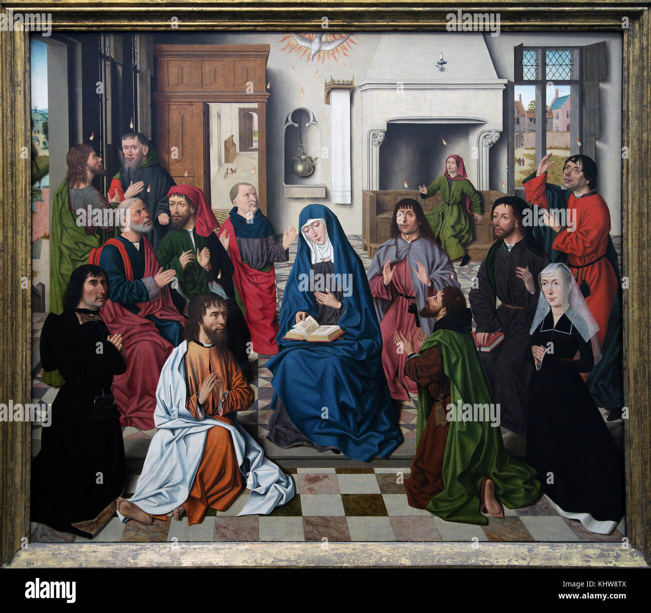 Pentecost c.1490.The Master of the Baroncelli Portraits 1450-1489 - Stock Image