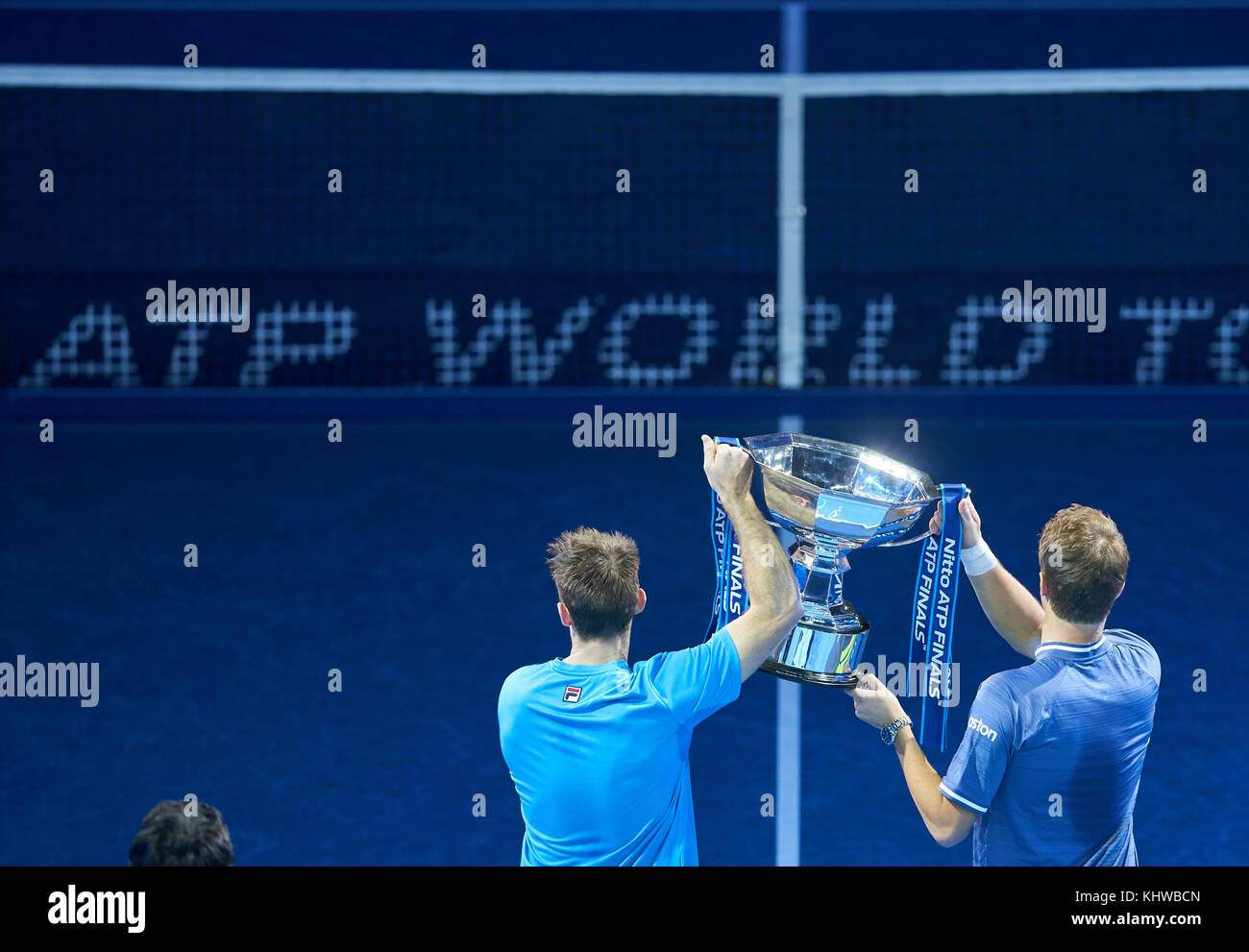 London, UK. 19th Nov, 2017. ATP Tennis, London, November 19, 2017 Henri KONTINEN/John PEERS winner of the double Stock Photo