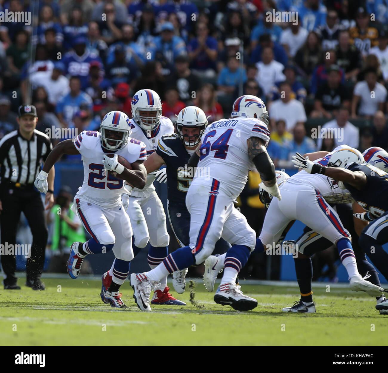 1ba65029505 Buffalo Bills running back LeSean McCoy  25 running during the NFL Buffalo  Bills vs Los Angeles Chargers at the Stubhub Center in Carson