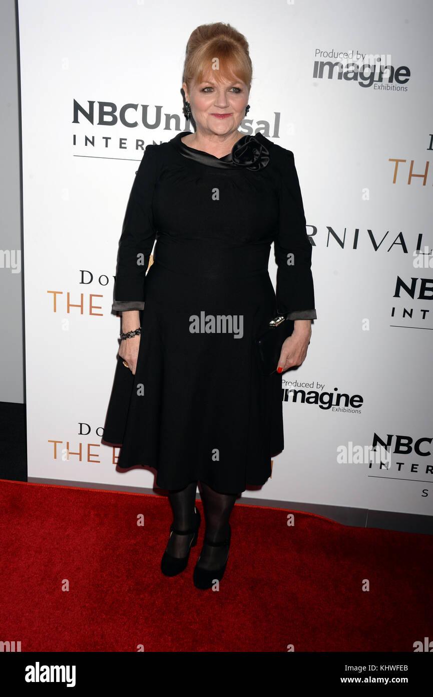 NEW YORK, NY - NOVEMBER 17: Lesley Nicol attends the 'Downton Abbey: The Exhibition' Gala Receptionon November - Stock Image